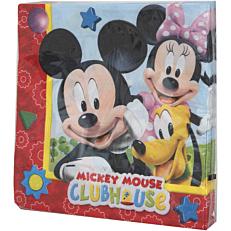 Χαρτοπετσέτες με σχέδιο Disney Mickey 33x33cm δίφυλλες (20τεμ.)