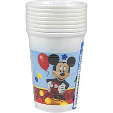 Ποτήρια PP με σχέδιο Disney Mickey 200ml (8τεμ.)