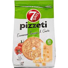 Αρτοσκεύασμα 7DAYS pizzeti τυρί, ντομάτα & σκόρδο (80g)
