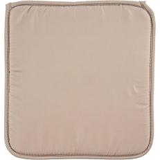 Μαξιλάρι καρέκλας βαμβακερό και πολυεστέρας μπεζ 38x38x2,3cm