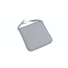 Μαξιλάρι καρέκλας βαμβακερό και πολυεστέρας γκρι ανοιχτό 38x38x2,3cm