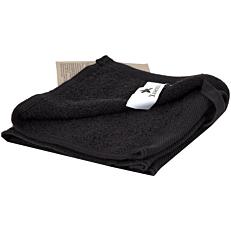 Πετσέτα YASEMI λαβέτα 100% βαμβακερή μαύρη 30x30cm