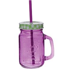 Ποτήρι με καλαμάκι Colors σε 6 χρώματα 40cl