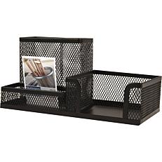 Βάση γραφείου με μεταλλικό δίχτυ μαύρο 20x20x10cm
