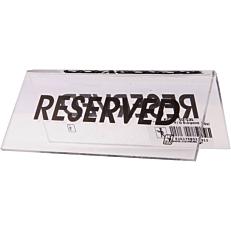 """Σήμα """"Reserved"""" διαφανές, 10x5cm από plexiglas"""