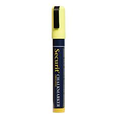 Μαρκαδόροι SECURIT υγρής κιμωλίας μαύρου πίνακα medium κίτρινοι (2τεμ.)