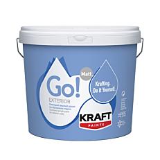 Χρώμα KRAFT Go! Exterior ακρυλικό εξωτερικής χρήσης, λευκό (9lt)