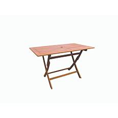 Τραπέζι MIMOSA GARDEN μέταλλο rattan fsc πτυσσόμενο 120x70cm