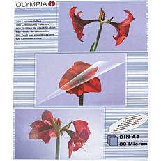 Φύλλα πλαστικοποίησης OLYMPIA A4,80 mic,100 φύλλα