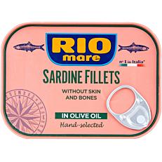 Κονσέρβα RIO MARE φιλέτο σαρδέλας σε ελαιόλαδο με πιπεριά τσίλι (105g)