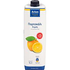 Φυσικός χυμός ARION FOOD πορτοκάλι (1lt)