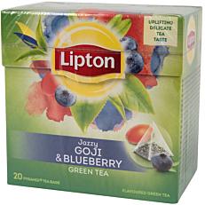 Τσάι LIPTON green tea blueberry & goji (20x1,4g)