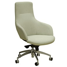 Πολυθρόνα γραφείου με γκρι ύφασμα