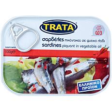 Κονσέρβα TRATA σαρδέλες πικάντικες με ελαιόλαδο (100g)