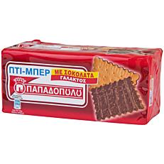 Μπισκότα ΠΑΠΑΔΟΠΟΥΛΟΥ ΠΤΙ ΜΠΕΡ με σοκολάτα γάλακτος (200g)