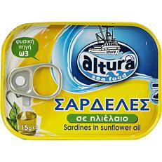 Κονσέρβα ALTURA σαρδέλες σε σπορέλαιο (115g)