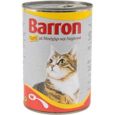 Τροφή BARRON γάτας πατέ μοσχαριού και λαχανικών (400g)