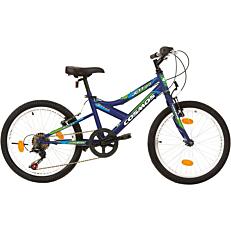 """Ποδήλατο COSMOS MTB JETT 20"""" 6 ταχύτητες Unisex μπλε"""
