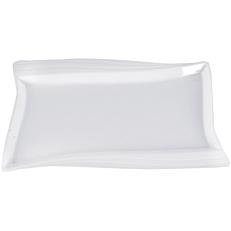 Πιατέλα μελαμίνης λευκή 53x32,5cm