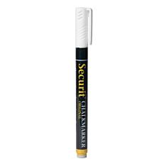 Μαρκαδόροι SECURIT υγρής κιμωλίας μαύρου πίνακα small άσπρα (4τεμ.)