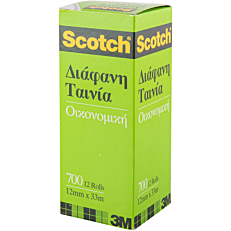 Κολλητική ταινία Scotch 700 διαφανής 12mmx33 (12τεμ.)