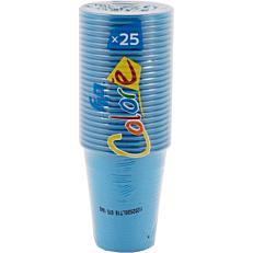 Ποτήρια πλαστικά 200ml σε μπλε χρώμα (25τεμ.)