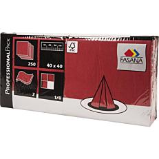 Χαρτοπετσέτες FASANA μπορντώ 40x40cm (250τεμ.)