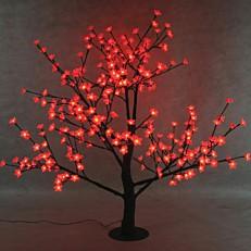 Χριστουγεννιάτικο δέντρο φωτιζόμενο, κερασιά, εσωτερικού και εξωτερικού χώρου, 280 led με θερμό κόκκινο φως 1,5m
