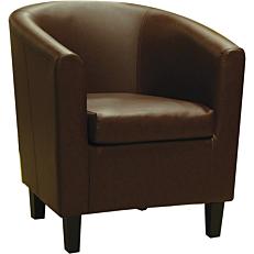 Πολυθρόνα Pu καφέ 71x74x79cm