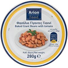 Κονσέρβα ARION FOOD φασόλια γίγαντες σε σάλτσα (280g)