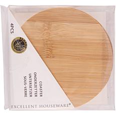 Σουβέρ στρογγυλό από bamboo 11cm (4τεμ.)