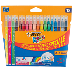 Μαρκαδόροι BIC kids cool fluo (15+3δώρο)