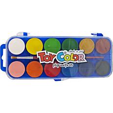 Νερομπογιές TOY COLOR, 12 χρώματα