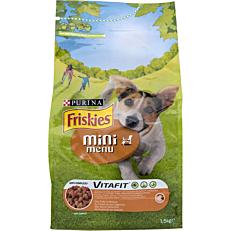 Ξηρά τροφή FRISKIES σκύλου mini menu με κοτόπουλο και λαχανικά (1,5kg)
