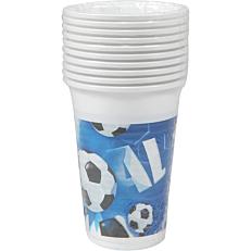 Ποτήρια PP με σχέδιο Football 200ml (10τεμ.)