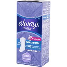 Σερβιετάκια ALWAYS fresh & protect large (24τεμ.)