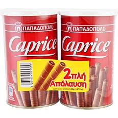 Πουράκια ΠΑΠΑΔΟΠΟΥΛΟΥ Caprice με κρέμα φουντουκιού και κακάο (2x115g)