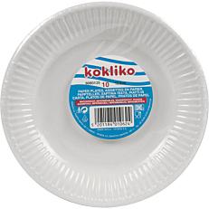 Πιάτα χάρτινα μονόχρωμα λευκά 20cm (10τεμ.)