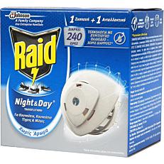 Εντομοαπωθητικό RAID night & day σετ