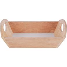 Ψωμιέρα ξύλινη Rubberwood ορθογώνια 36x18cm