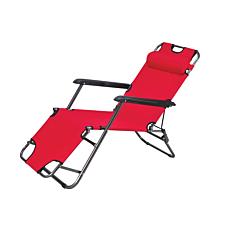 Πολυθρόνα ξαπλώστρα μεταλλική με ύφασμα πολυεστέρας 168x70x79cm