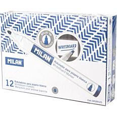 Μαρκαδόροι MILAN λευκού πίνακα μπλε (12τεμ.)