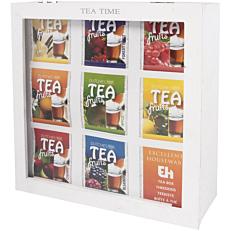 Κουτί Tea ξύλινο λευκό