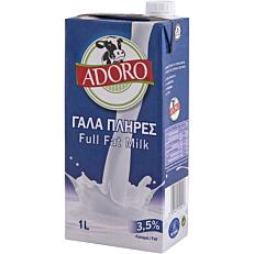 Γάλα ADORO μακράς διαρκείας πλήρες 3,5% λιπαρά (1lt)