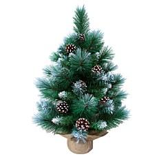 Χριστουγεννιάτικο δέντρο χιονισμένο με κουκουνάρια 60cm
