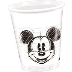 Ποτήρια PP με σχέδιο Mickey Faces 200ml (25τεμ.)