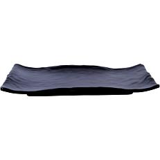 Πιατέλα μελαμίνης KULSAN μαύρη 27,7x19,2cm