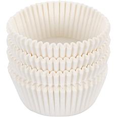 Φόρμες κέικ silouet λευκές (120τεμ.)