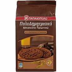 Μπισκότα ΠΑΠΑΔΟΠΟΥΛΟΥ πολυδημητριακά με 4 δημητριακά και κακάο (160g)