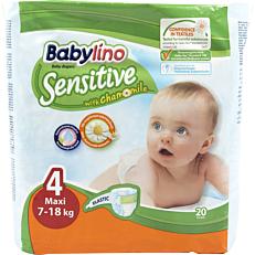Πάνες BABYLINO Sensitive No.4, 7-18kg (20τεμ.)